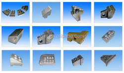 tungsten carbide tool parts for tunnel boring machines