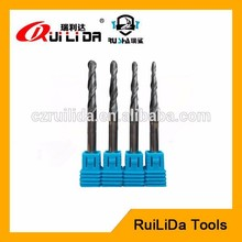 tungsten carbide jewelry stone cutting tools 2 flutes coated carbide taper ball nose end mills
