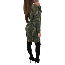 Amazon aliexpress explosion club split band corns sexy long sleeved camouflage clothing