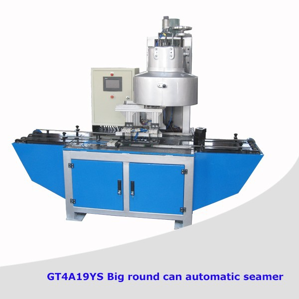 Easy open big round automatic tin can sealing machine