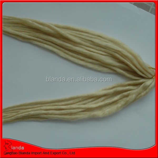 2014 new style light color dread lock synthetic hair extensions