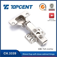 CUSTOM BRAND 5 years guarantee One way steel soft closing hydraulic cabinet door hinge