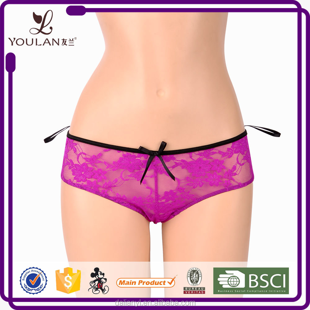 Fashion Sexy Slit Women Printed Underwear Showing Girls Panties