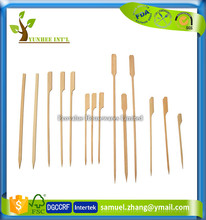 Various Cocktail Finger Food Bamboo Skewers