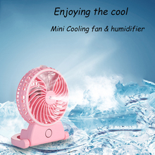2018 New innovative product USB Rechargeable Mini portable air Cooling desk mist fan humidifier with 18650 battery