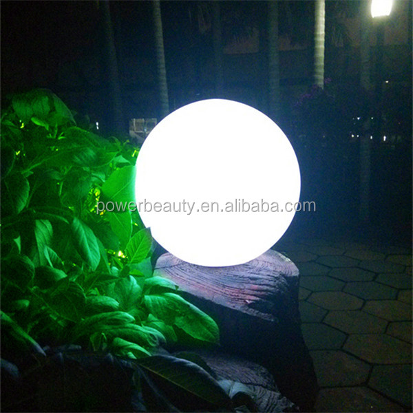 BSCI ISO9001 2008 approved Waterproof solar colorful garden plastic ball lamp with led light
