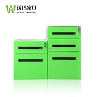 2/3 drawer metal mobile file cabinet / removable steel cabinet