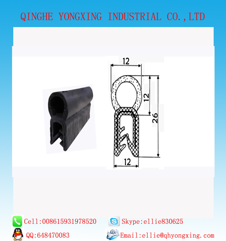 Aluminum alloy doors and Windows epdm rubber sealing strip