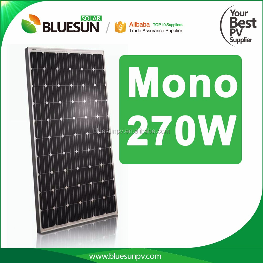 Best price 270w mono solar panel 60 cells high efficiency for solar power system