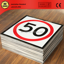 50KM/H 600x600 Class 1 corflute corrugated vacuum formed plastic signs