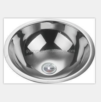 SS304 Round Hand Wash Basin Kitchen Sink GR-578, View outdoor wash ...