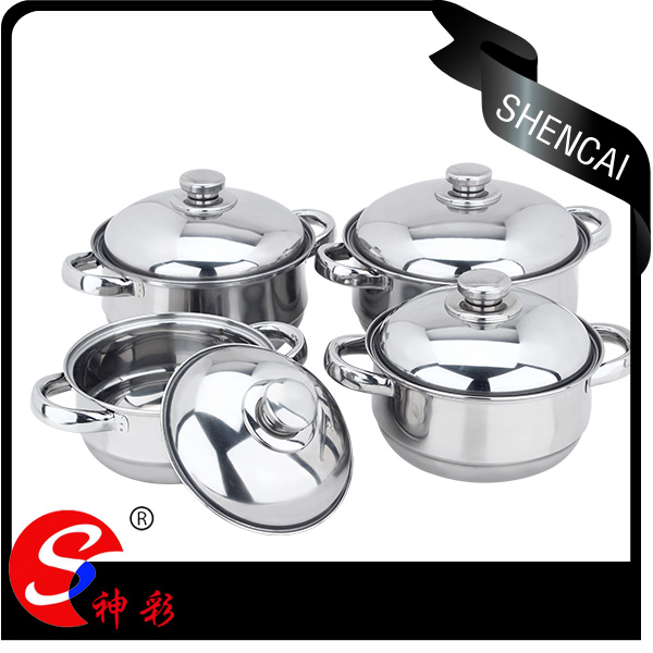 8pcs Durable & Beautiful Good Quality Cheap Price Stainless Steel Cookware