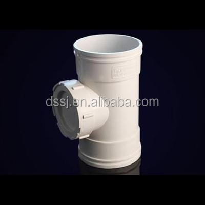 High quality fatory price PVC pipe fitting drain tee with cleanout for inspection
