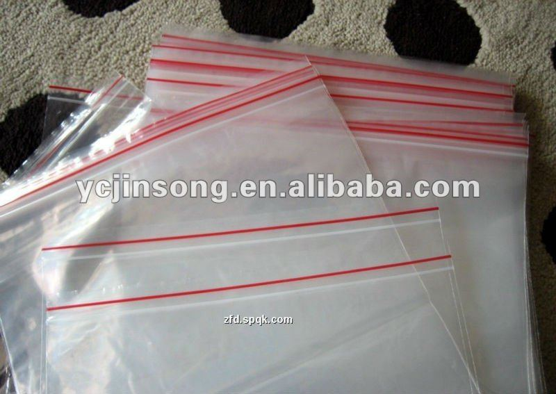 white color zipped plastic packaging bags