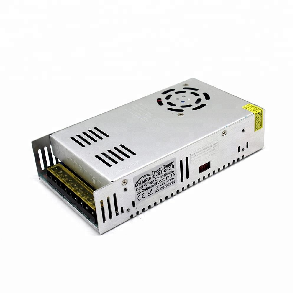 Universal Switching Power Supply DC 28V 17.8A 500W Transformers 110V 220V AC DC28V SMPS For CNC Machine DIY LED Light CCTV Motor