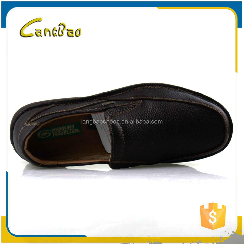 man fashion black high quality leather shoes
