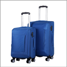 wholesale cheap price lightweight nylon material bright color travel luggage
