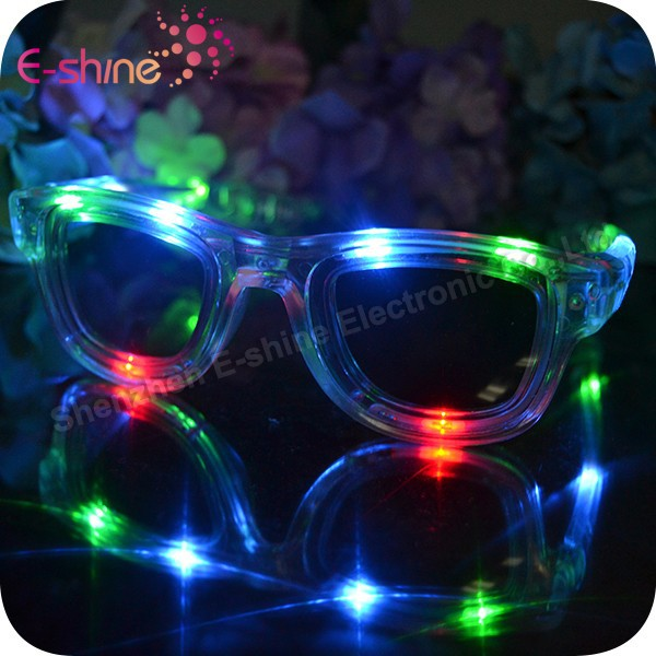 Halloween Decoration Plastic Party Led Light Up Sunglasses
