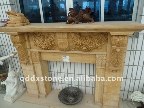 Yellow Granite Fireplace/Granite Tile Fireplace