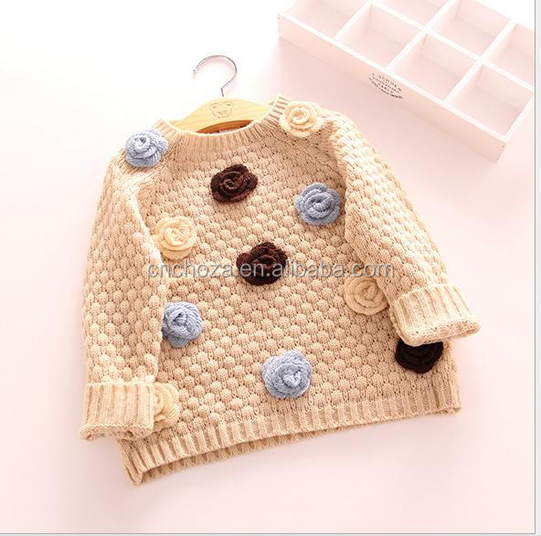 Z52697B China wholesale Baby/ girl round neck sweater designs for kids