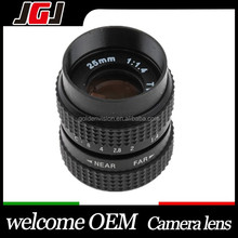 25mm f/1.4 C Mount CCTV Lens For Nikon D3200 D5100 D750 D810 D2 D4