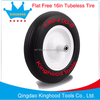 No Flat Replacement Tire for Wheelbarrow and Utility Cart 16-inch 4.80/4.00-8