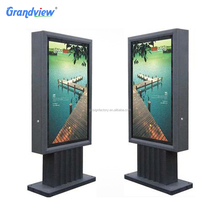 Outdoor Advertising display stand up waterproof led solar power light box