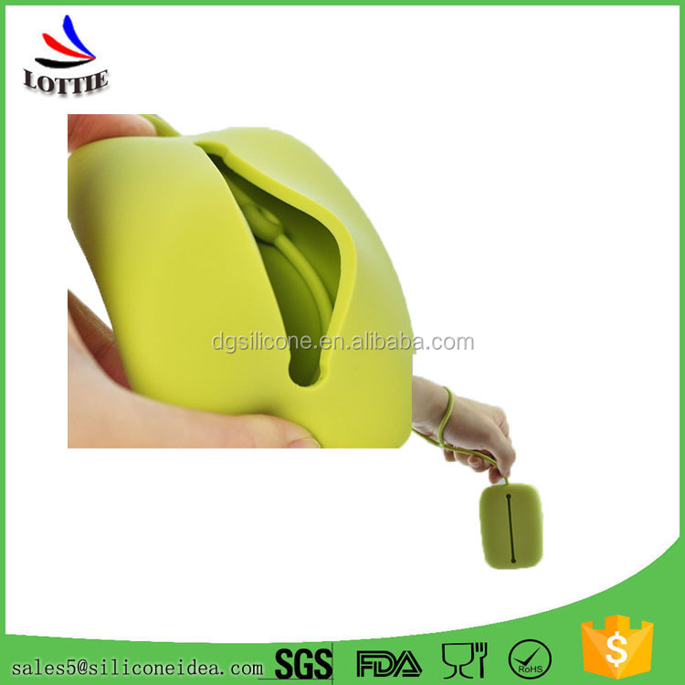 New desigm 2016,Colorful Silicone card bag lovely silicone key bag