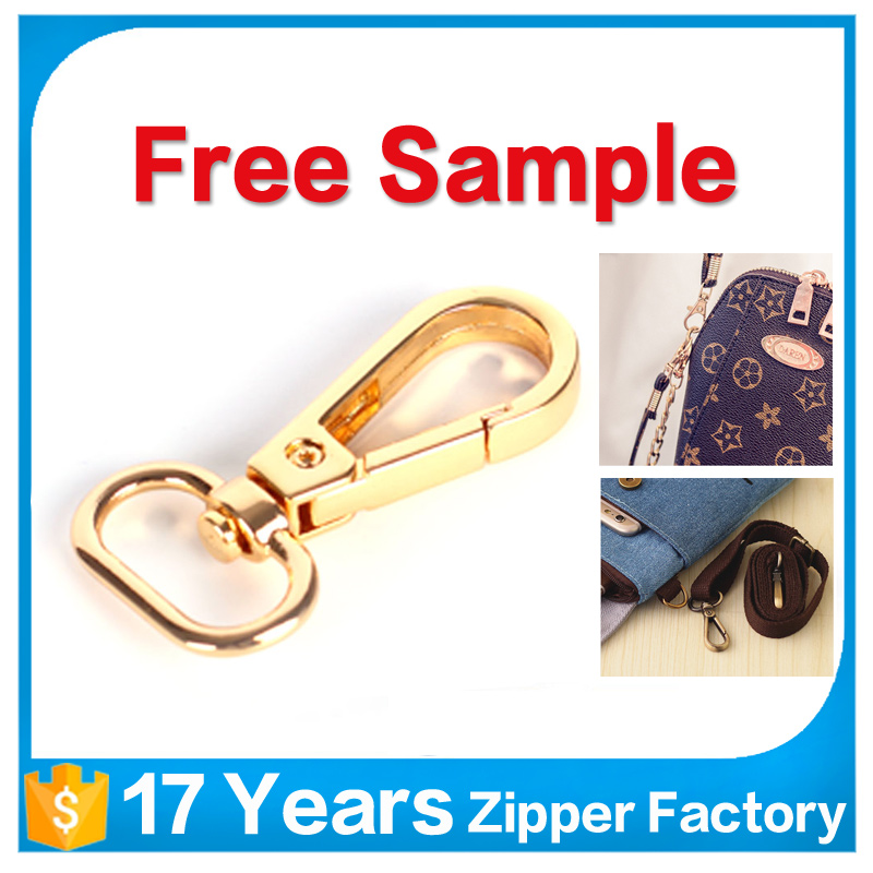 high quality custom handbag accessory fashion snap buckle hook, belt metal snap hook for bags