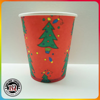 Disposable 8oz Hot Cow Drinking Paper Cup
