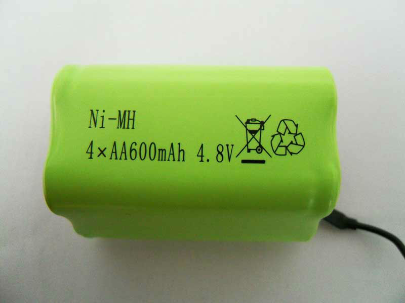 Hotsale 4.8V 600mAh Ni-MH AAA Battery Pack