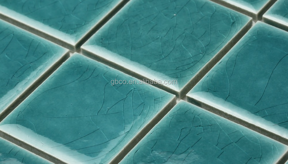 48TS436 simple glazed crack porcelain ceramic mosaic for swimming pool
