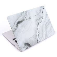 China manufacture shockproof scratchproof white marble hard shell cover case for Macbook Pro 13
