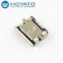 High quality micro usb female solder connector 5Pin SMT SMD usb connector