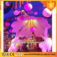 hot sale giant inflatable beautiful advertising led flower with led light for inflatable hanging decoration