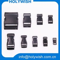 Factory directly sale 1cm-5cm black plastic buckle for lanyard or luggage belt