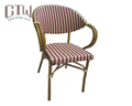 Outdoor French patio rattan flower chair