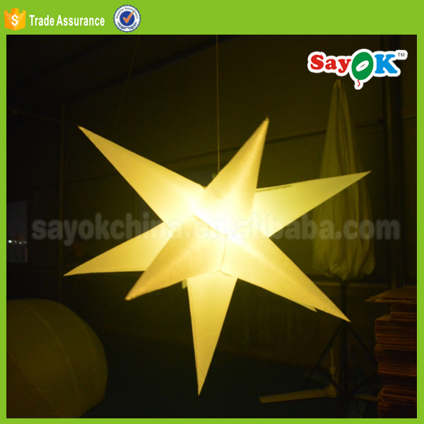 led inflatable star,inflatable air star ballon for indoor decoration