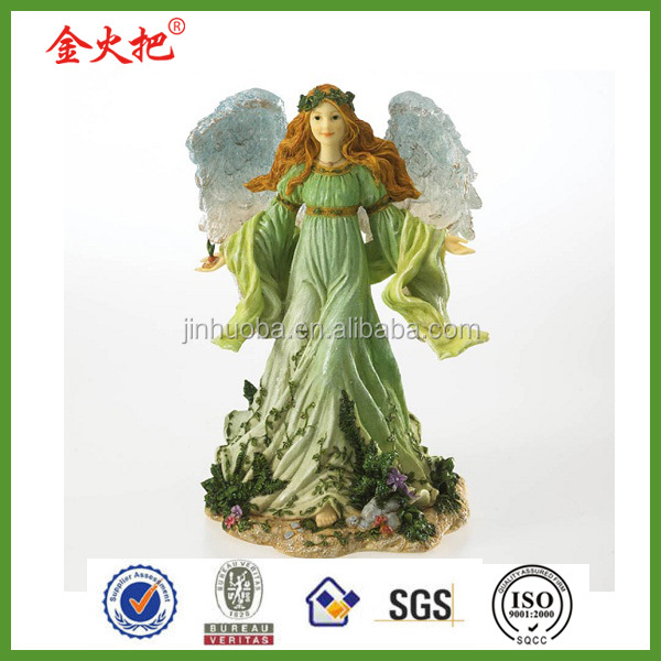 Resin flying fairy for home decoration