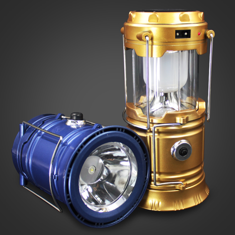 Vintage Outdoor Camping Lantern USB Charging and Solar Power Panel Camping Lamp LED Lantern Light
