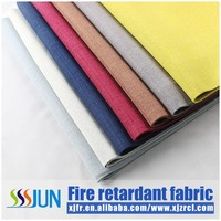 2016 simple style inherently fire retardant double wall cloth fabric for curtain