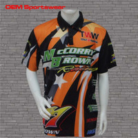 Custom embroidery 100% sublimated pit crew F1 racing shirts for men