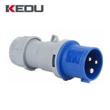 KEDU 3pins IP44 16A 32A 63A Different Types Industrial Male Plug 220V Electrical Plugs With CE SEMKO