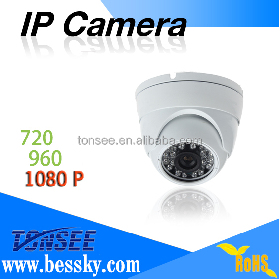 indoor 1080P POE ip Waterproof Day&Night indoor dome camera video poe Outdoor Security Camera System