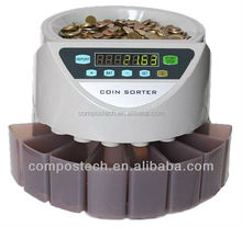Coin Counter and Sorter for Thailand/Malaysia/Euro/USD/Mexico/UK pound/Australia coins