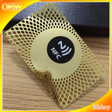 China top quality gold stainless steel card with custom business card metal