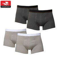 Classic Black Basic Cotton Boxer Shorts Custom Comfortable Waistband Men Underwear Seamless Plain Men Boxershorts