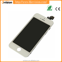 mobile phone touch screen lcd displayer for iphon 5 lcd, new replacement digitizer touch display for iphone 5 screen