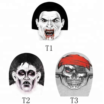 KaPin cheap skull heads printed breathable nylon spandex halloween party face masks for wholesale