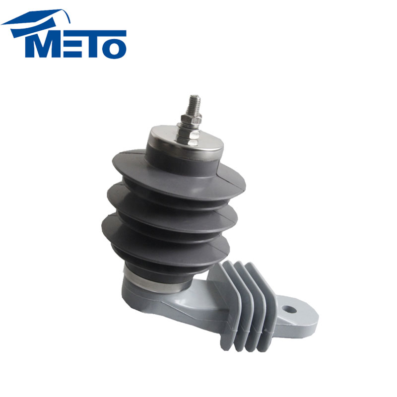 China Newest Design Types 9KV 10KA station silicone rubber lightning arrester without gaps